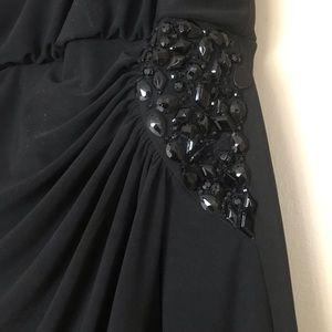 CHAPS Dress Evening Drape Scoop Back Gathered Side